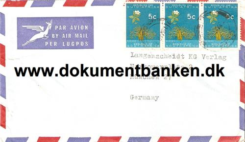 South Africa. Air Mail kuvert