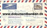 South Africa. Luftpostbrev 1953