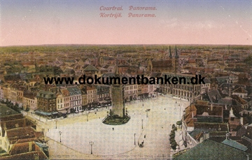 Courtrai (Kortrijk). Panorama. Carte Postale