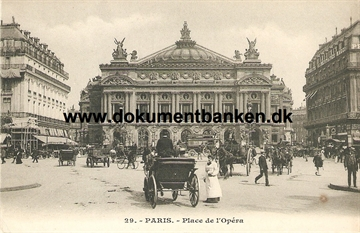 Paris, Place de l'Opera, Carte Postale
