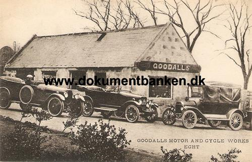 Goodalls Motor and Cycle Works, Echt, Aberdeenshire, Postcard