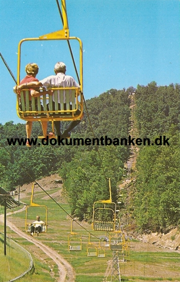 The Double Chair Lift, Gatlinburg Ski Resort, Tennessee, Post Card