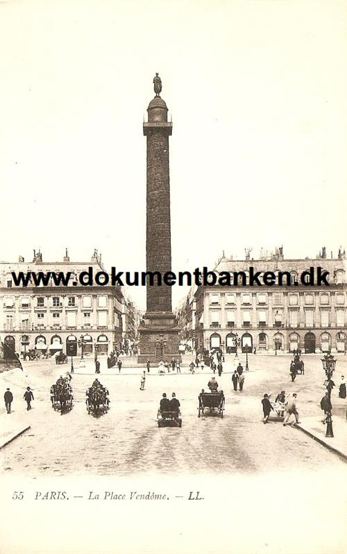 Paris, La Place Vendome, Postkort