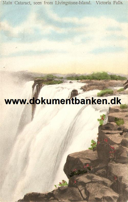 Victoria Falls seen from Livingstone-Island