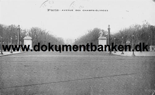 Paris, Avenue Des Champs-Elysees, Postkort