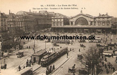La Gare de l'Est, Paris. Terminus of teh Eastern Railway.