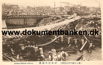 Kanda Bridge. The great earthquake Tokyo 1 september 1923