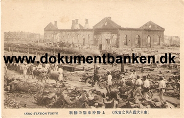 Ueno Station. The great earthquake Tokyo 1 september 1923