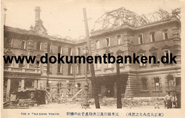 The Mitsui Bank. The great earthquake Tokyo 1 september 1923