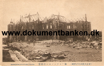 Shinbashi Station . The great earthquake Tokyo 1 september 1923