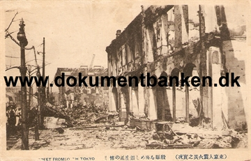 Ginza Street From South Tokyo. The great earthquake Tokyo 1 september 1923