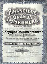 Belgien Financiere des Grands Immeubles 30 Juni 1929