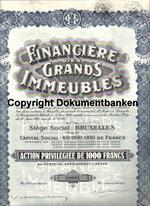 Belgien Financiere Des Grands Immeubles 1929